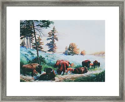 Frosty Morning Framed Print by Hanne Lore Koehler