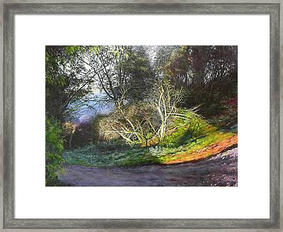 Framed Print featuring the painting Frosty Morning Near Nant Clwyd by Harry Robertson