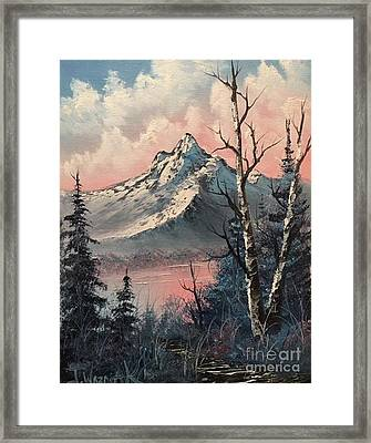 Frosty Mountain  Framed Print by Paintings by Justin Wozniak