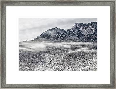Snowy Grandfather Mountain - Blue Ridge Parkway Framed Print
