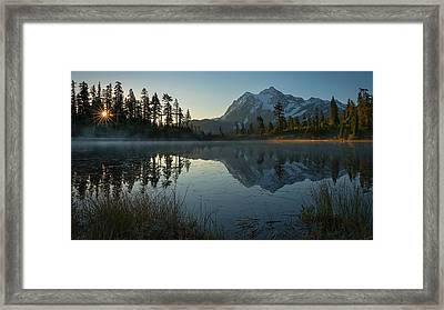 Framed Print featuring the photograph Frosty Picture Lake by Dan Mihai