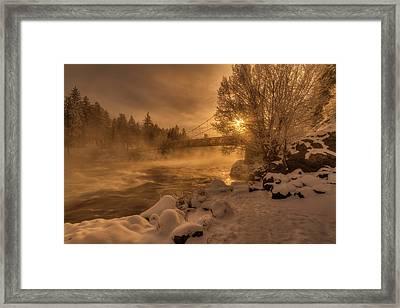 Frosty Riverside Framed Print