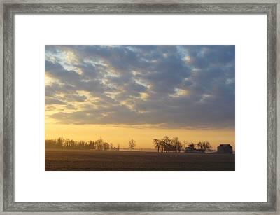 Frosty Spring Sunrise Framed Print