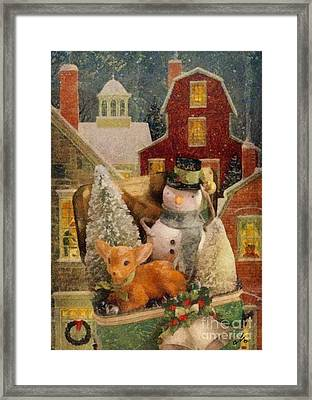 Frosty The Snowman Framed Print by Mo T