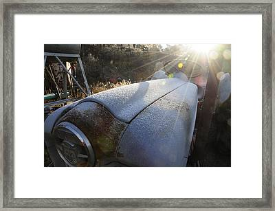 Frosty Tractor Framed Print