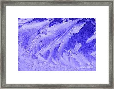 Frosty Window Framed Print