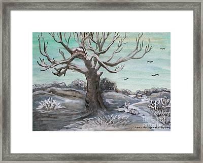 Frosty Winter Day Framed Print by Anna Folkartanna Maciejewska-Dyba