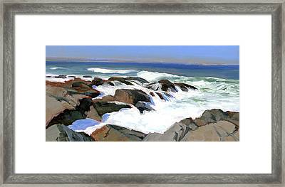 Froth And Foam On The Marginal Way Framed Print
