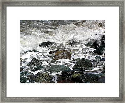 Frothy Coast Framed Print by Jen White