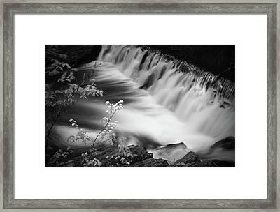 Frothy Falls Framed Print