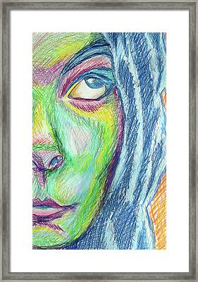 Framed Print featuring the mixed media Froud Self by Sarah Crumpler
