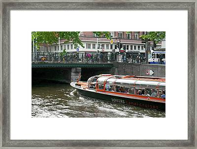 Frowning On The Lovers Framed Print