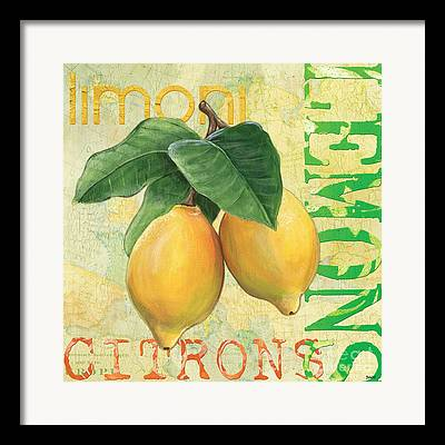 Lemons Framed Prints