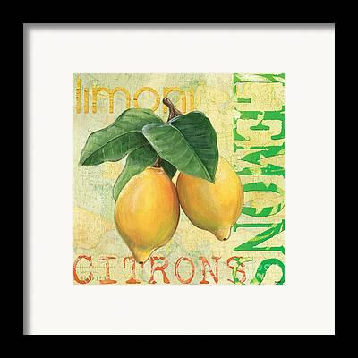 Lemon Framed Prints