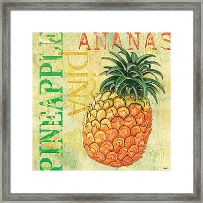 Froyo Pineapple Framed Print by Debbie DeWitt