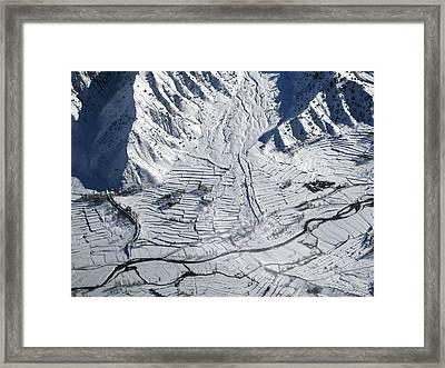 Frozen Afghan Village Framed Print