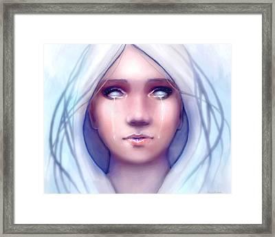 Framed Print featuring the digital art Frozen by Angela Murdock