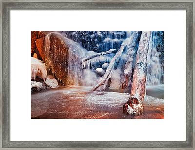 Frozen Avalon Fantasy Falls Framed Print