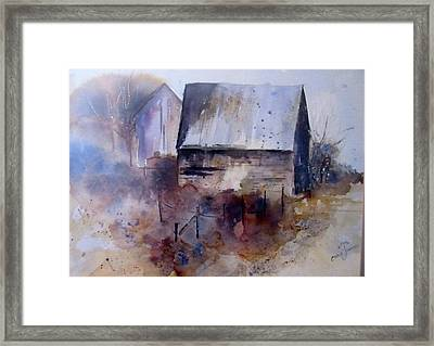 Frozen Barn Framed Print