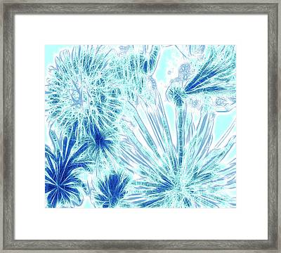 Framed Print featuring the digital art Frozen Blue Ice by Methune Hively