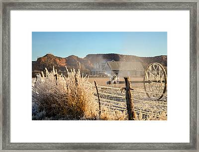 Frozen Blue Skies Framed Print