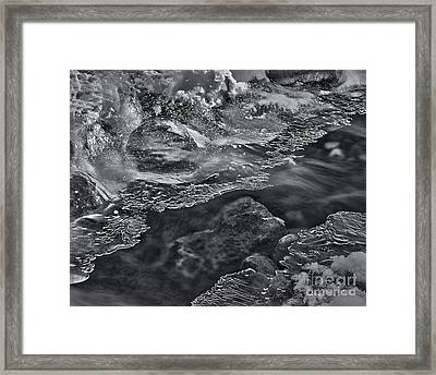 Frozen Chaos Framed Print by Royce Howland