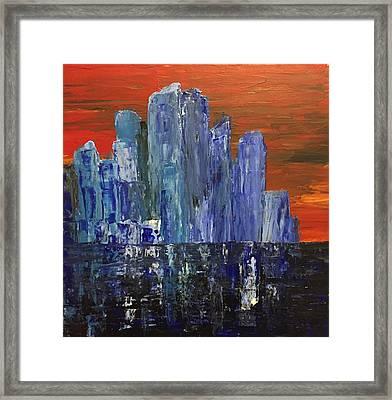 Frozen City Framed Print