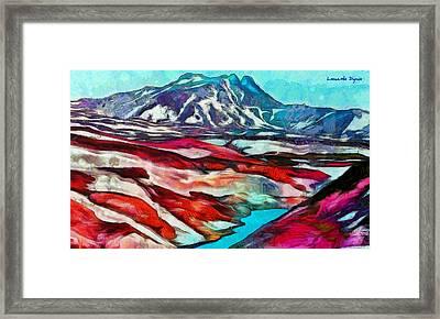 Frozen Desert - Pa Framed Print