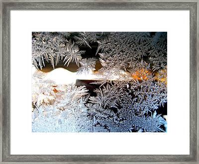 Frozen Design Framed Print by Shirley Sirois