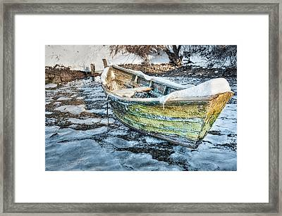 Framed Print featuring the photograph Frozen Dory by Thomas Gaitley