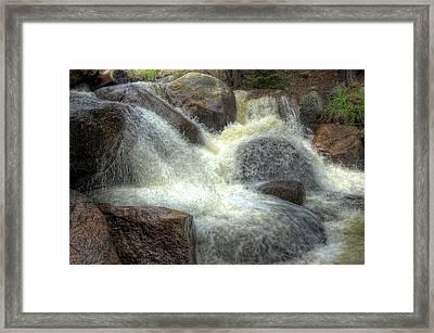 Frozen Falling Framed Print