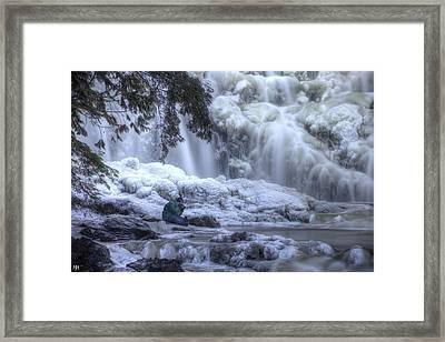 Frozen Falls Framed Print