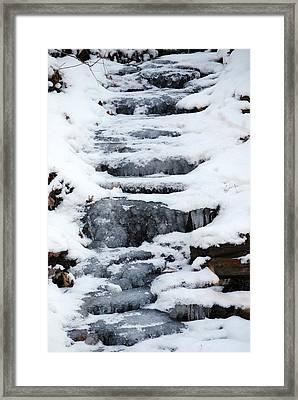 Frozen Falls Framed Print by Peter  McIntosh
