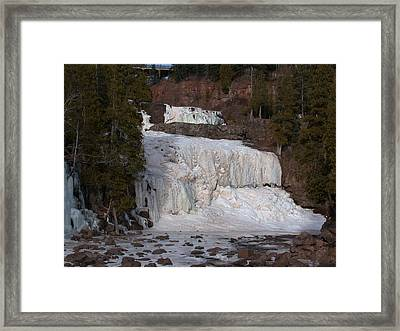 Framed Print featuring the photograph Frozen Falls by Ron Read