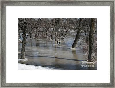 Frozen Floodwaters Framed Print