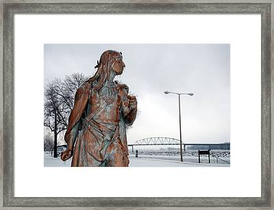Frozen Glare Framed Print