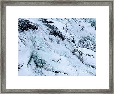 Frozen Gullfoss In Winter Framed Print