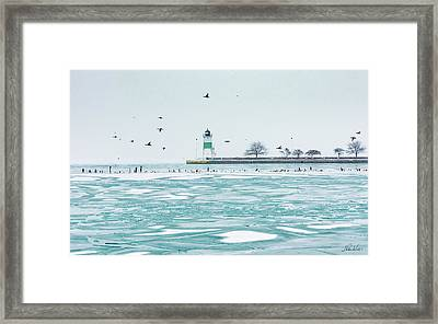Frozen In Chicago Framed Print