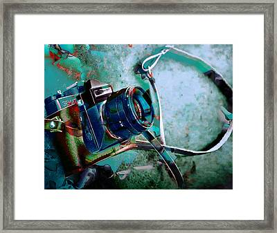 Frozen In Time Camera Collection Framed Print by Marvin Blaine