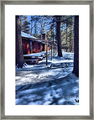 Frozen In Time Framed Print by Elizabeth Dow