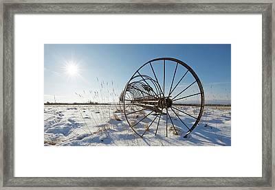 Frozen In Time. Framed Print by Kelly Nelson
