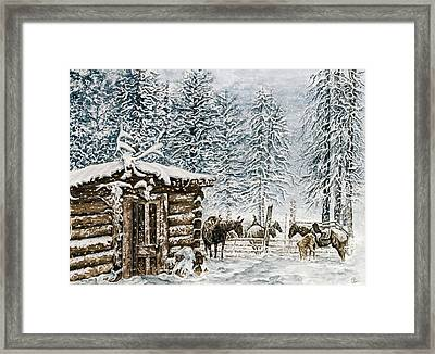 Frozen In Time Framed Print by Traci Goebel