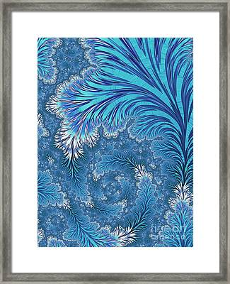 Frozen Framed Print by John Edwards
