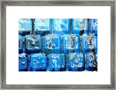 Frozen Keyboard Framed Print
