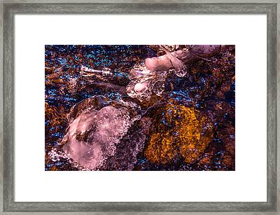 Frozen Lake Abstract Framed Print