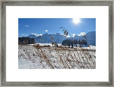 Frozen Lake And Mountains 2 Framed Print by Sabine Jacobs