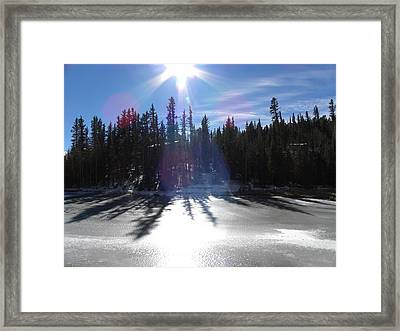 Sun Reflecting Kiddie Pond Divide Co Framed Print