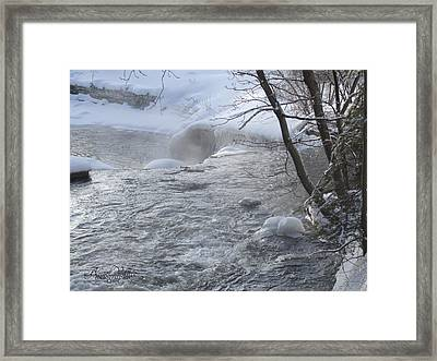 Frozen Magic Time Framed Print by Angel Vallee
