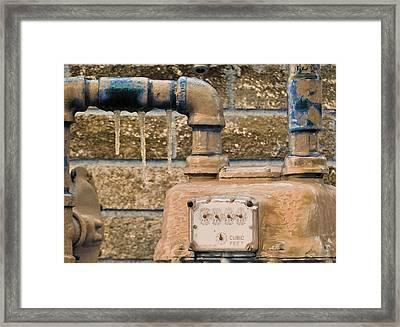 Frozen Meter Framed Print