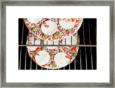 Frozen Pizza Framed Print